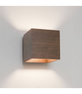 1 Light Up & Down Wall Light Walnut, E14