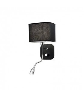 1 Light Indoor Wall Light Black