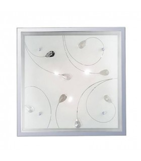 3 Light Indoor Large Flush Light Glass