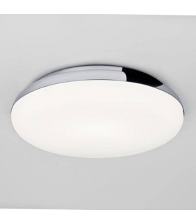 1 Light Bathroom Flush Ceiling Light Polished Chrome IP44