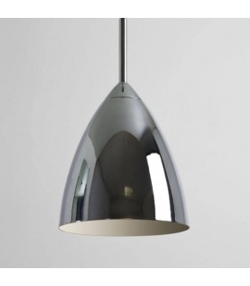 1 Light Dome Ceiling Pendant Polished Chrome, E27