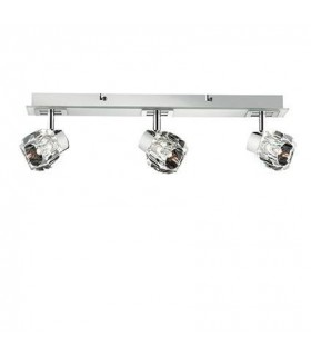 3 Light Indoor Flush Light Chrome