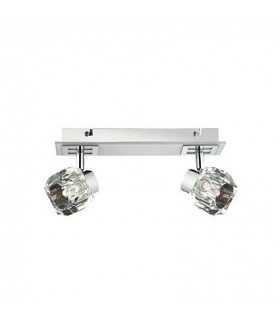 2 Light Ceiling Flush Light Chrome