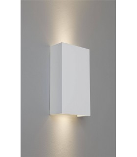 2 Light Up & Down Wall Light Plaster