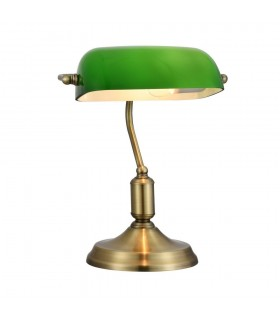 Table Banker Lamp Brass, 1 Light, E27