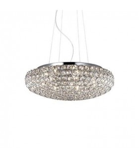 King Small Chrome Pendant - Ideal Lux 87979