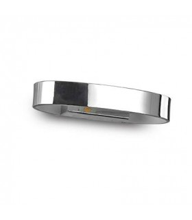 Zed Chrome Oval Led Wall Light - Ideal Lux 115160