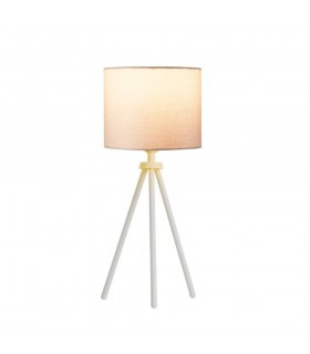 Indoor Table Lamp In White Without Shade