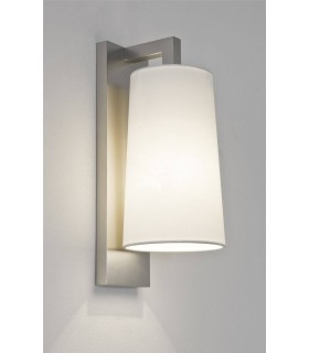 1 Light Bathroom Wall Light Matt Nickel IP44