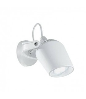 1 Light Outdoor Wall Spotlight White IP66