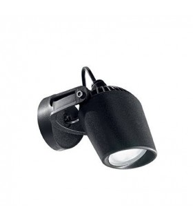 1 Light Outdoor Wall Spotlight Black IP66