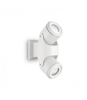 2 Light Outdoor Wall Light White IP44