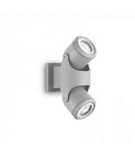 2 Light Outdoor Wall Light Grey IP44