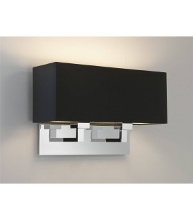 2 Light Indoor Twin Wall Light Polished Chrome - Shade Not Included