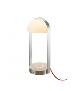 Led Table Lamp with Usb, Silver