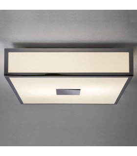 2 Light Bathroom Flush Ceiling Light Polished Chrome IP44