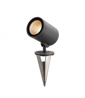Outdoor Pathway And Floor Stand, Led, 3000K, Round, Anthracite, 15W, Can Be Converted To A Spike Light, IP55