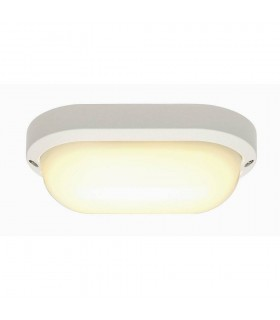 Wall And Ceiling Light, Oval, White, 11W Led, 3000K, Ip44