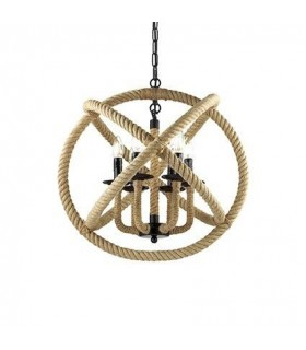 6 Light Spherical Ceiling Pendant Brown, Black