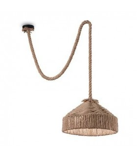 1 Light Dome Ceiling Pendant Brown