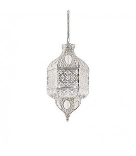 3 Light Small Ceiling Pendant Silver