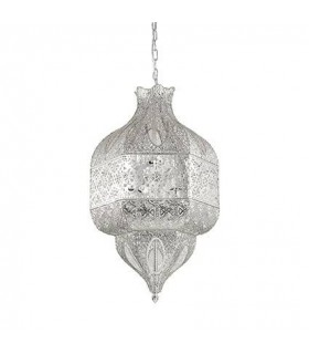 8 Light Large Ceiling Pendant Silver