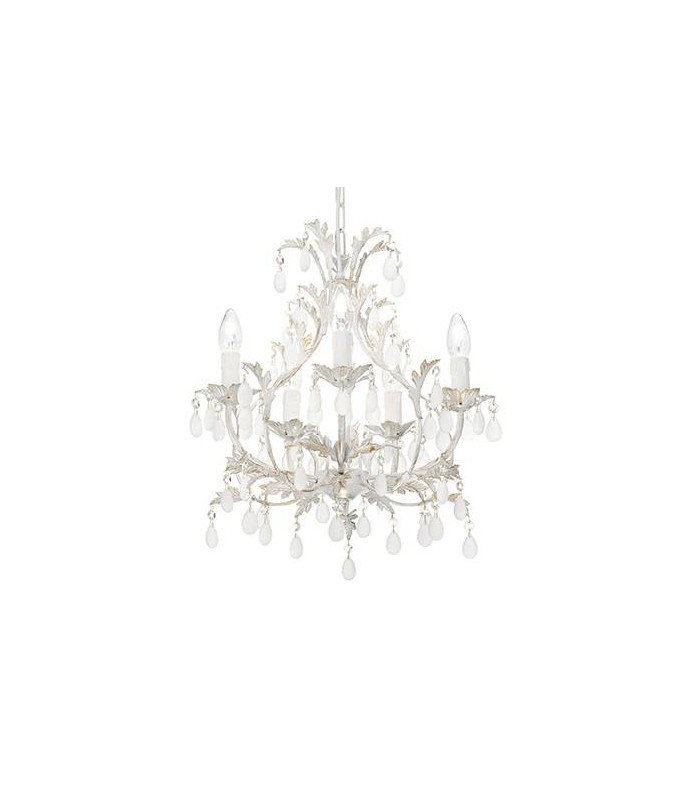 Ideal lux cascina white and gold five light chandelier idl100272 aloadofball Image collections