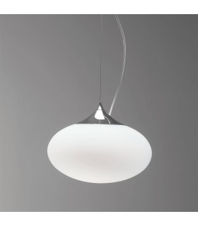 1 Light Globe Ceiling Pendant Polished Chrome, E27