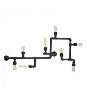 8 Light Indoor Wall / Ceiling Light Matt Black