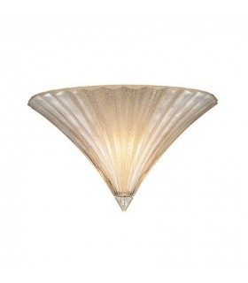 1 Light Indoor Large Wall Uplighter Gold with Glass, E14