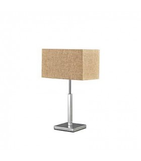 1 Light Table Lamp Chrome with Beige Canvas Shade