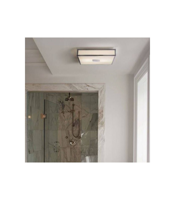 4 Light Bathroom Flush Ceiling Light Polished Chrome IP44, E27