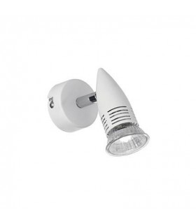 1 Light Indoor Adjustable Wall Spotlight White, GU10