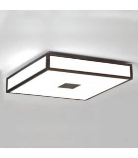 4 Light Bathroom Flush Ceiling Light Painted Bronze IP44