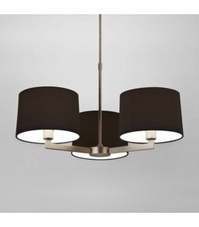 3 Light Multi Arm Ceiling Pendant Matt Nickel, E14