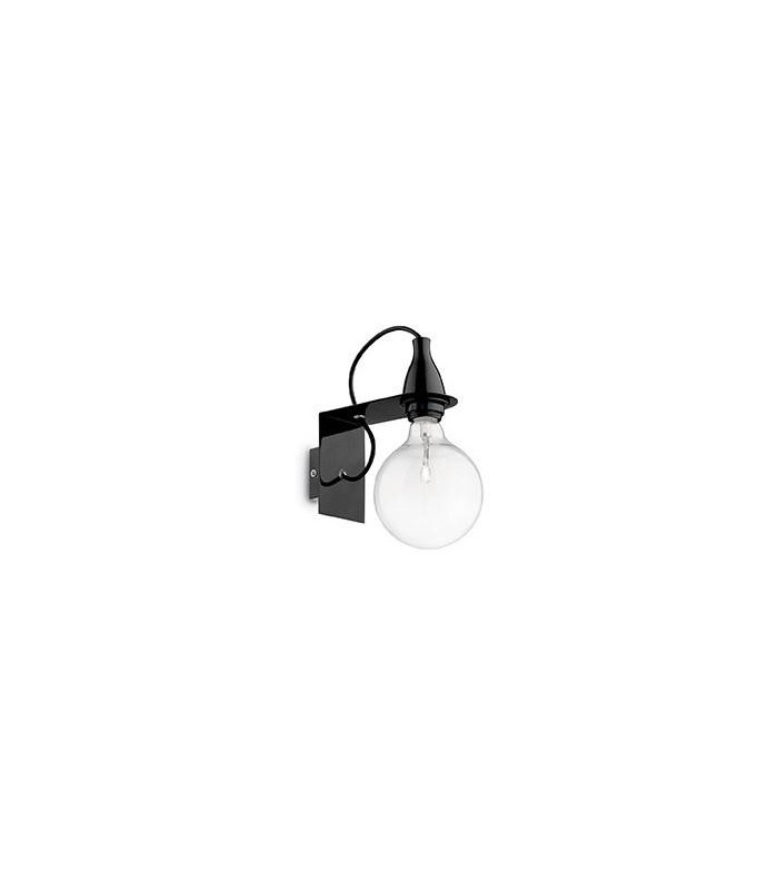 Ideal lux minimal black wall light idl045214 mozeypictures Gallery