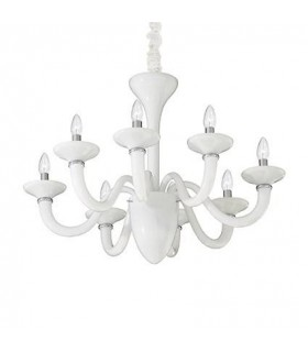White Lady White Eight Light Chandelier - Ideal Lux 19390