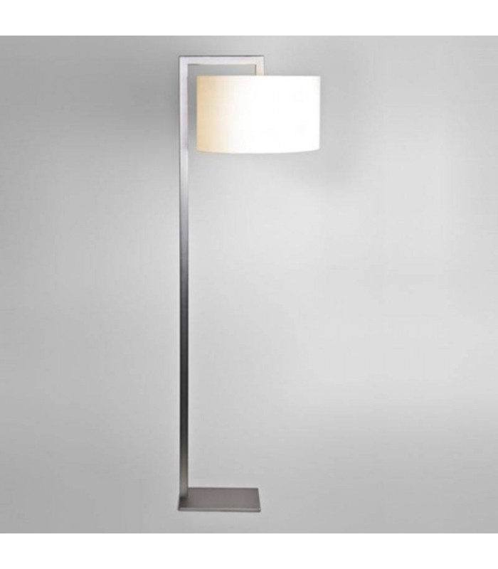 1 Light Floor Lamp Matt Nickel, E27