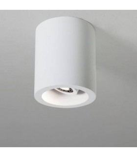 LED 1 Light Adjustable Round Surface Mounted Downlight Plaster