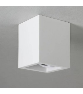 LED 1 Light Square Adjustable Surface Mounted Downlight Plaster, GU10