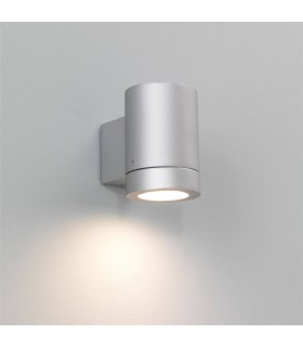 PORTO PLUS SINGLE OUTDOOR WALL LIGHT SILVER FINISH - ASTRO 0623