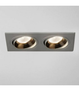 LED 2 Light Twin Adjustable Recessed Spotlight Aluminium