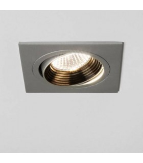 LED 1 Light Square Adjustable Recessed Spotlight Aluminium