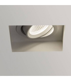 LED 1 Light Square Adjustable Recessed Spotlight White
