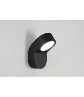 1 Light Outdoor Low Energy Wall Light Black IP44