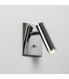 Enna Switched Square Chrome LED Wall Light - Astro Lighting 7363