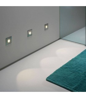 1 Light Outdoor Recessed Wall Light Stainless Steel IP65, E27