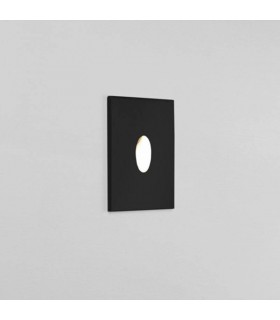 LED 1 Light Outdoor Recessed Wall Light Black IP65