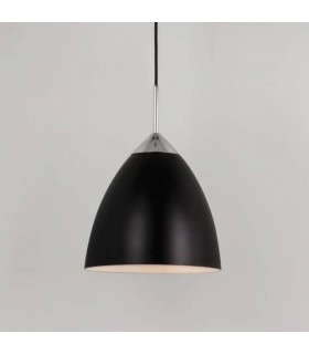 1 Light Large Dome Ceiling Pendant Matt Black