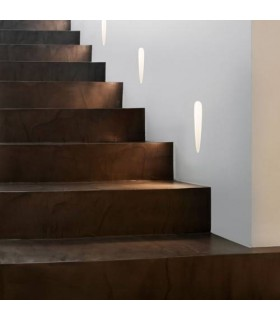 LED 1 Light Indoor Trimless Recessed Marker Wall Light White